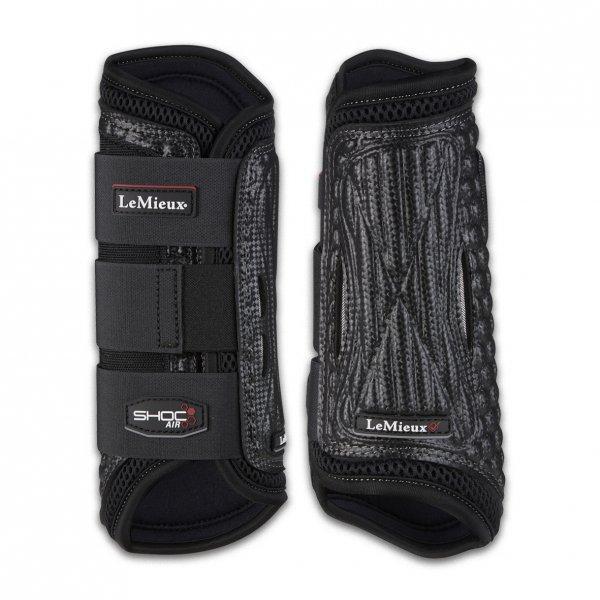 LeMieux Shoc Air Cross Country Boots-Front-Black